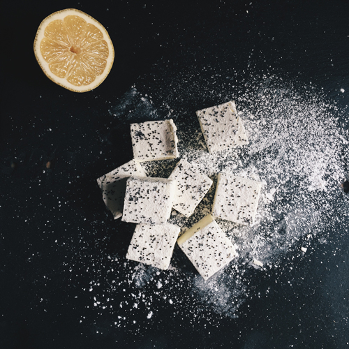 Sicilian Lemon & Poppyseed Marshmallows by Hepburn & Co.