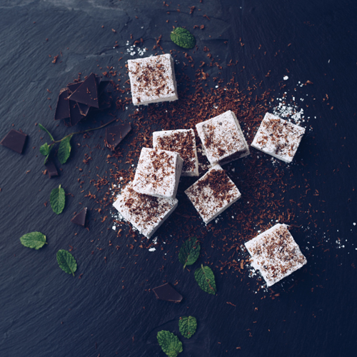 Mint and Dark Chocolate Marshmallows by Hepburn & Co.
