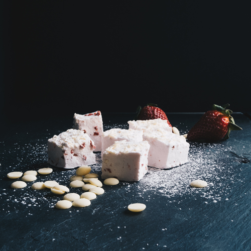 Strawberry & White Chocolate Marshmallows by Hepburn & Co.